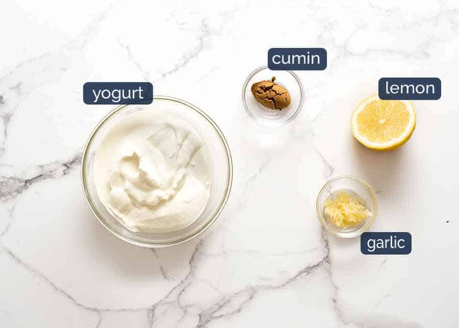 Lemon Yogurt Sauce for Lamb Koftas