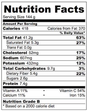 Ester Restaurant Roasted Cauliflower Almond Sauce Nutrition