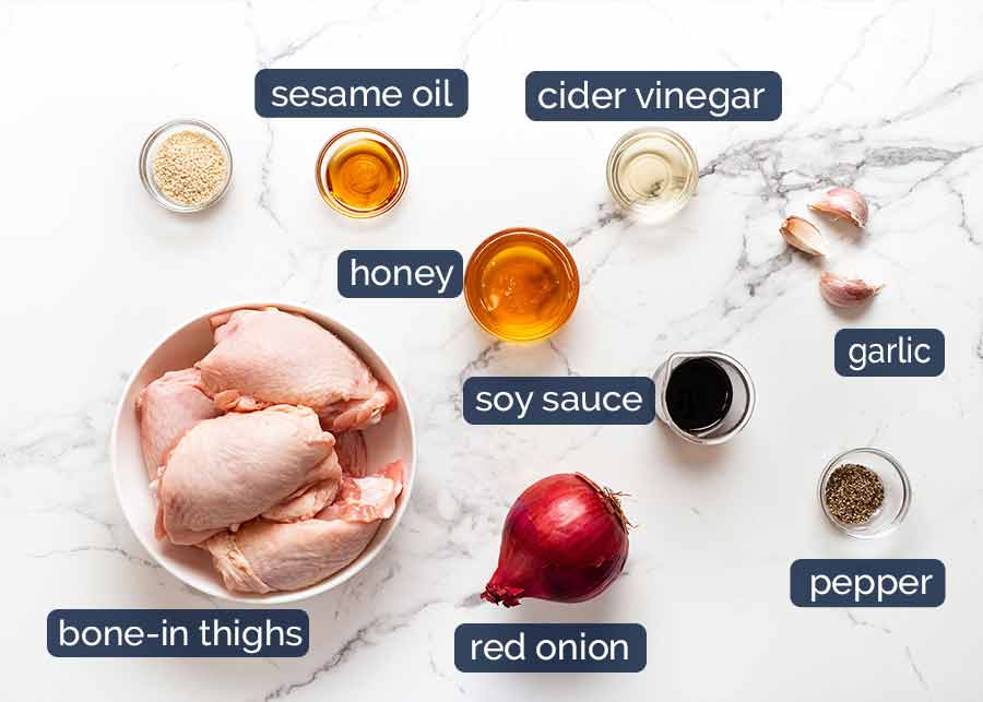 Honey Soy Baked Chicken ingredients