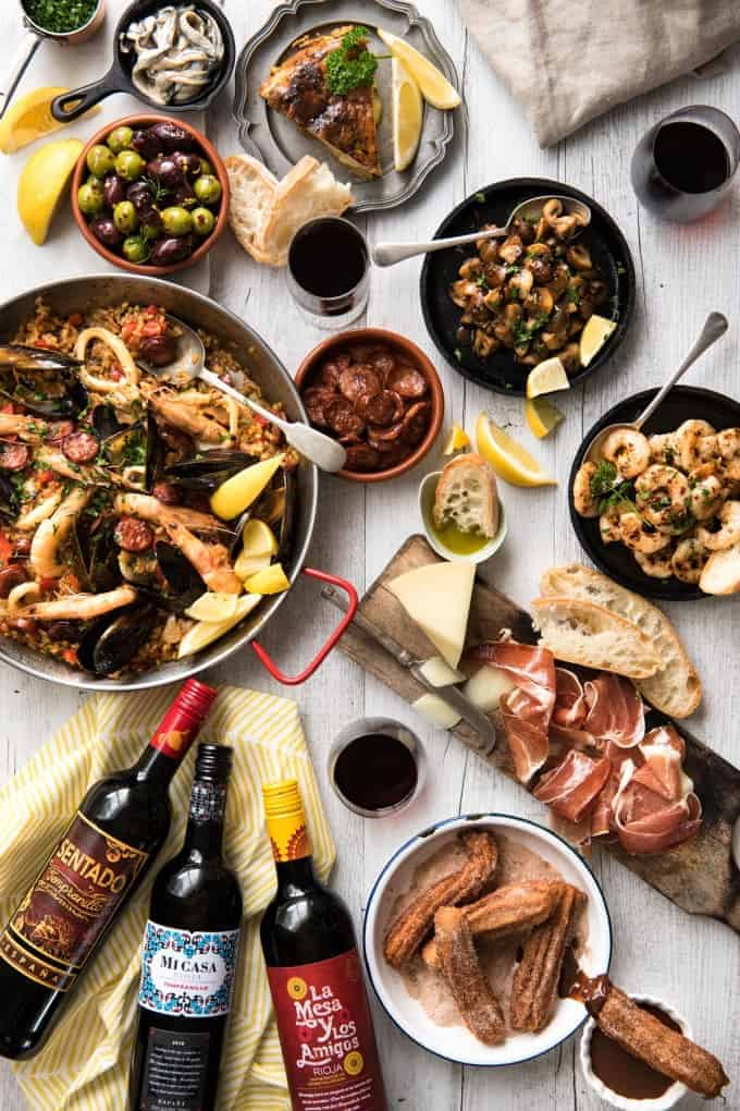 Spanish Feast - A multi course feast, easy Spanish dinner menu to make in your own home! recipetineats.com