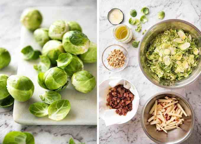 Brussel Sprout Salad - the combination of brussels sprouts, bacon, apple and hazelnuts is a magical combination! www.recipetineats.com