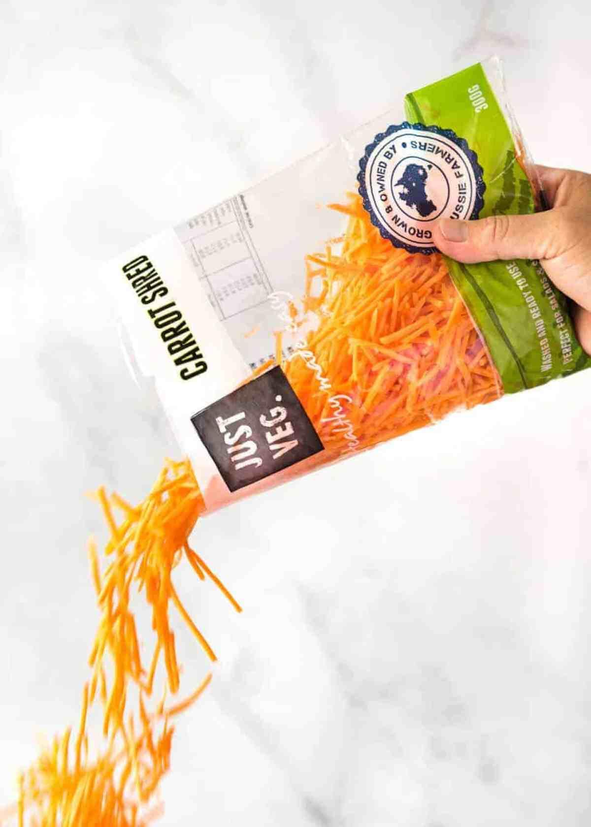 Just Veg Pre shredded carrots