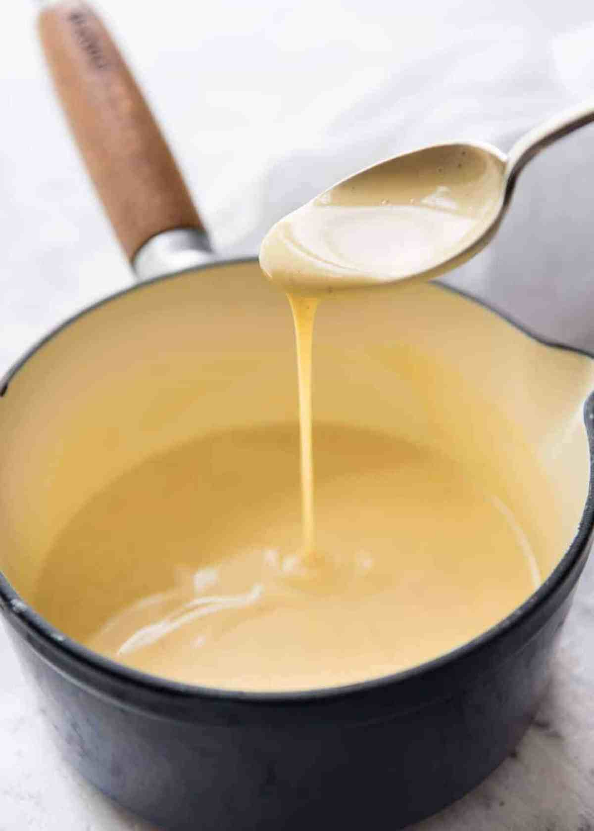 A classic, easy custard made using only egg as the thickener, no cornflour. Also known as Creme Anglaise, this is rich and stunning! www.recipetineats.com