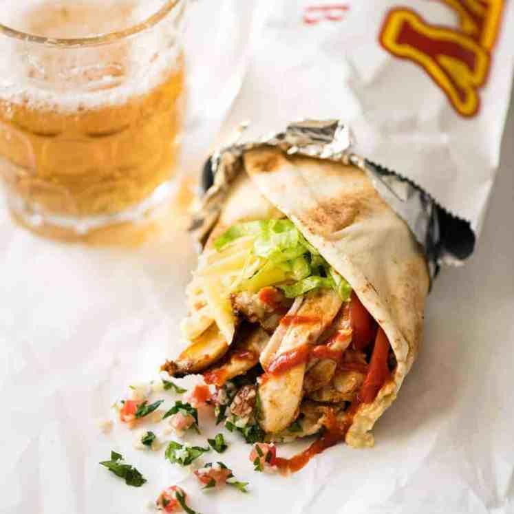 Homemade Chicken Doner Kebab - the better version of the midnight post-pub kebab runs! recipetineats.com
