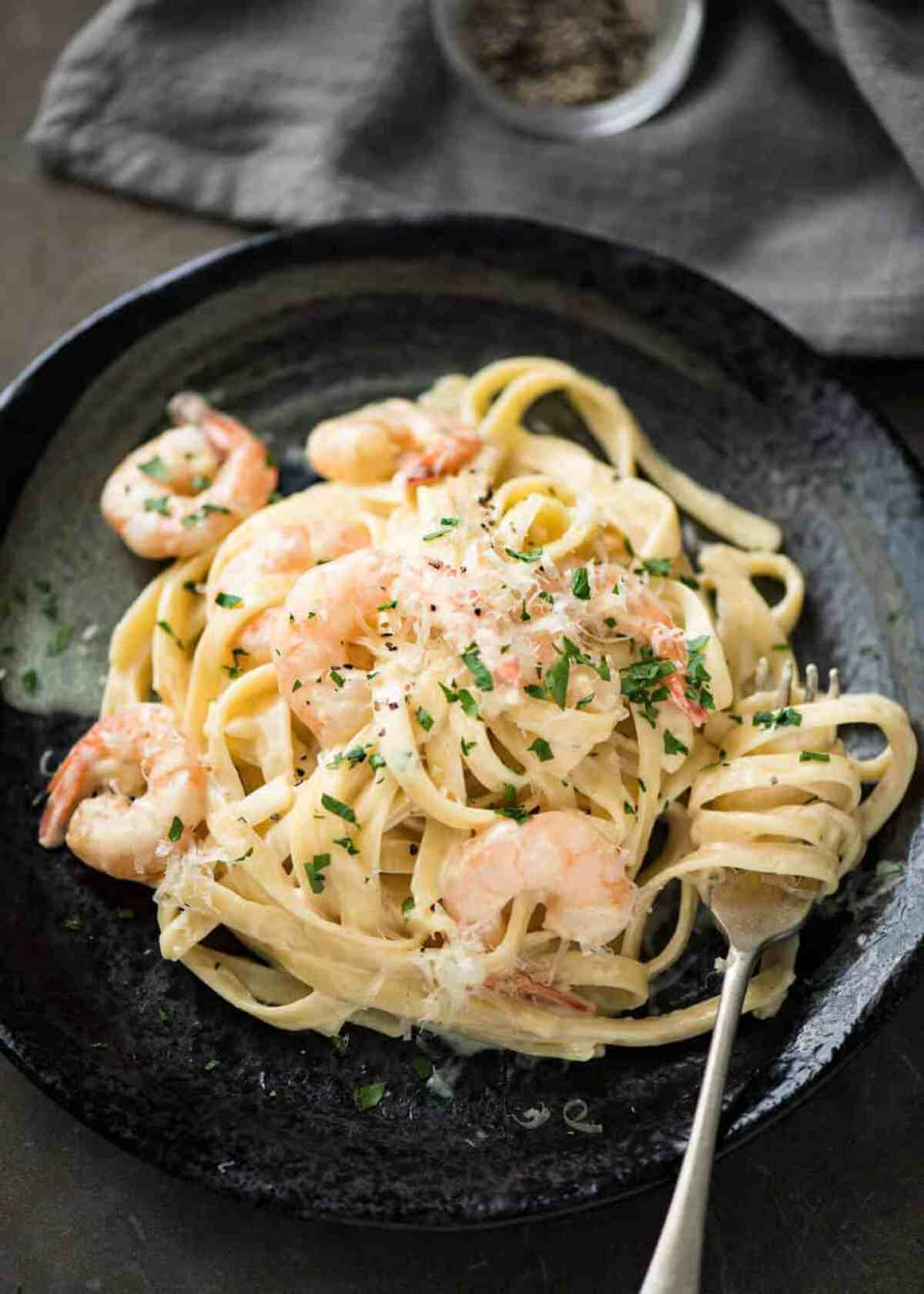 This Creamy Garlic Prawn Pasta is for all those nights when nothing but a creamy pasta will do. www.recipetineats.com