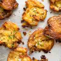 Ultra Crispy Smashed Potatoes