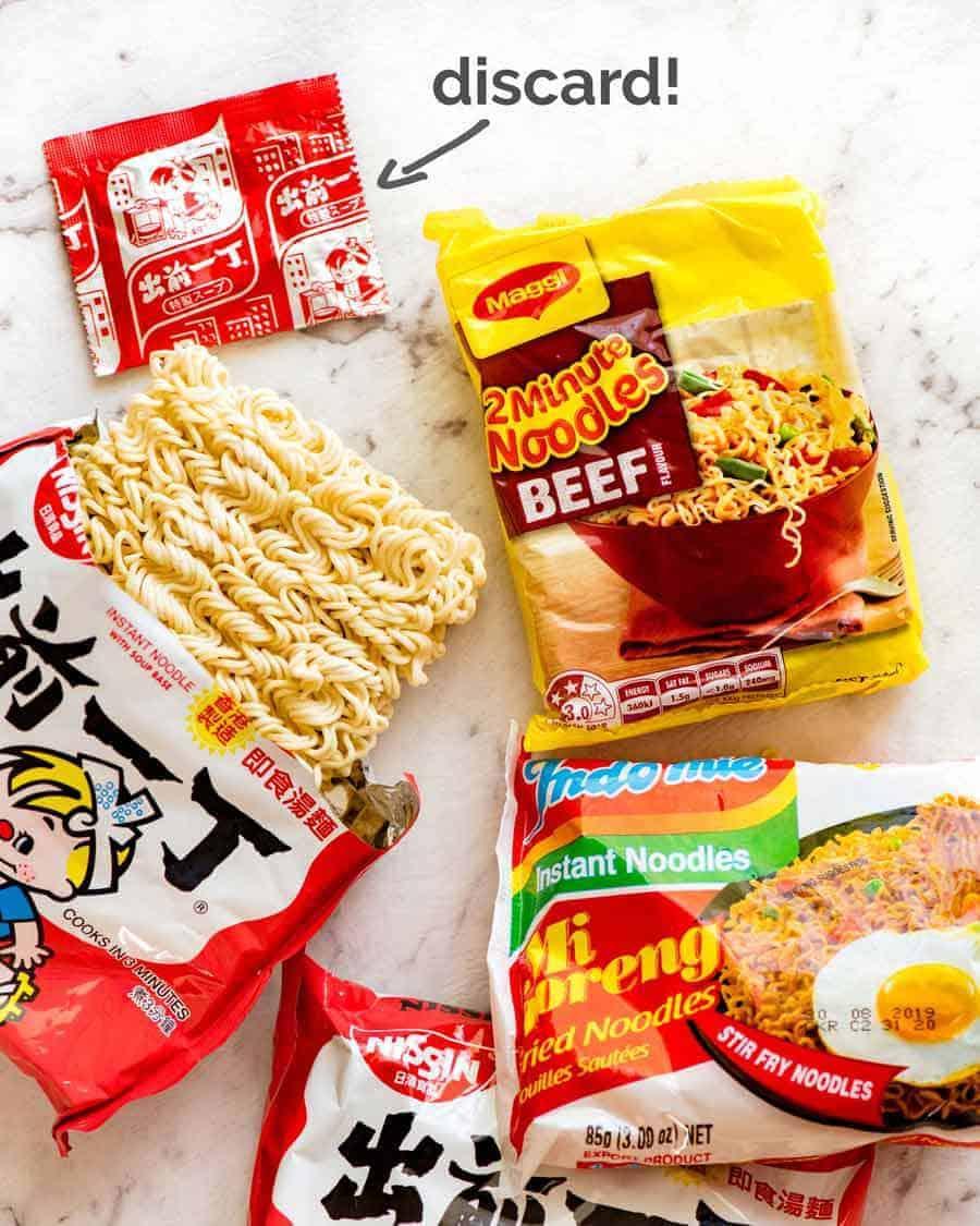Ramen Noodles for Quick Asian Beef Ramen Noodles
