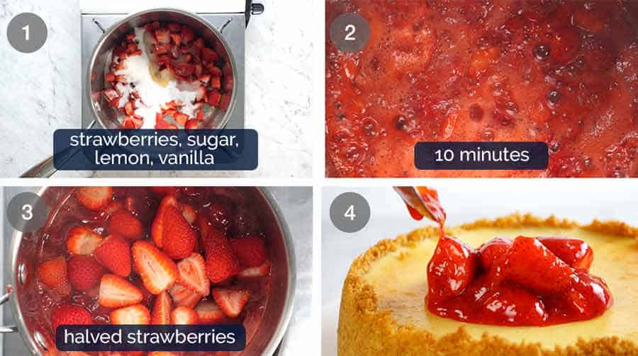 Strawberry topping sauce for Strawberry Cheesecake