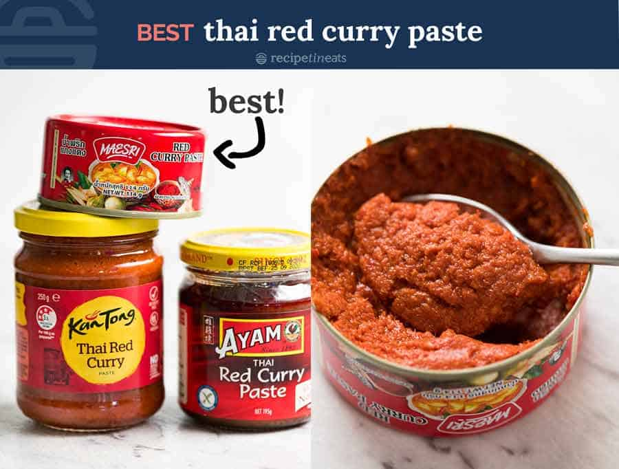 Best Thai red curry paste Maesri