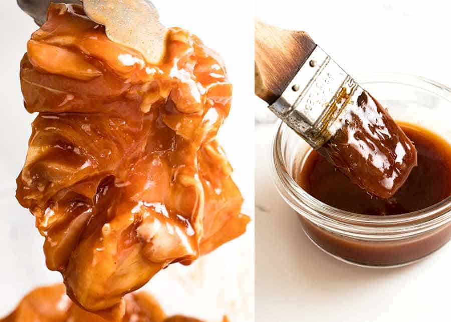 Sticky grilled chicken marinade and basting sauce