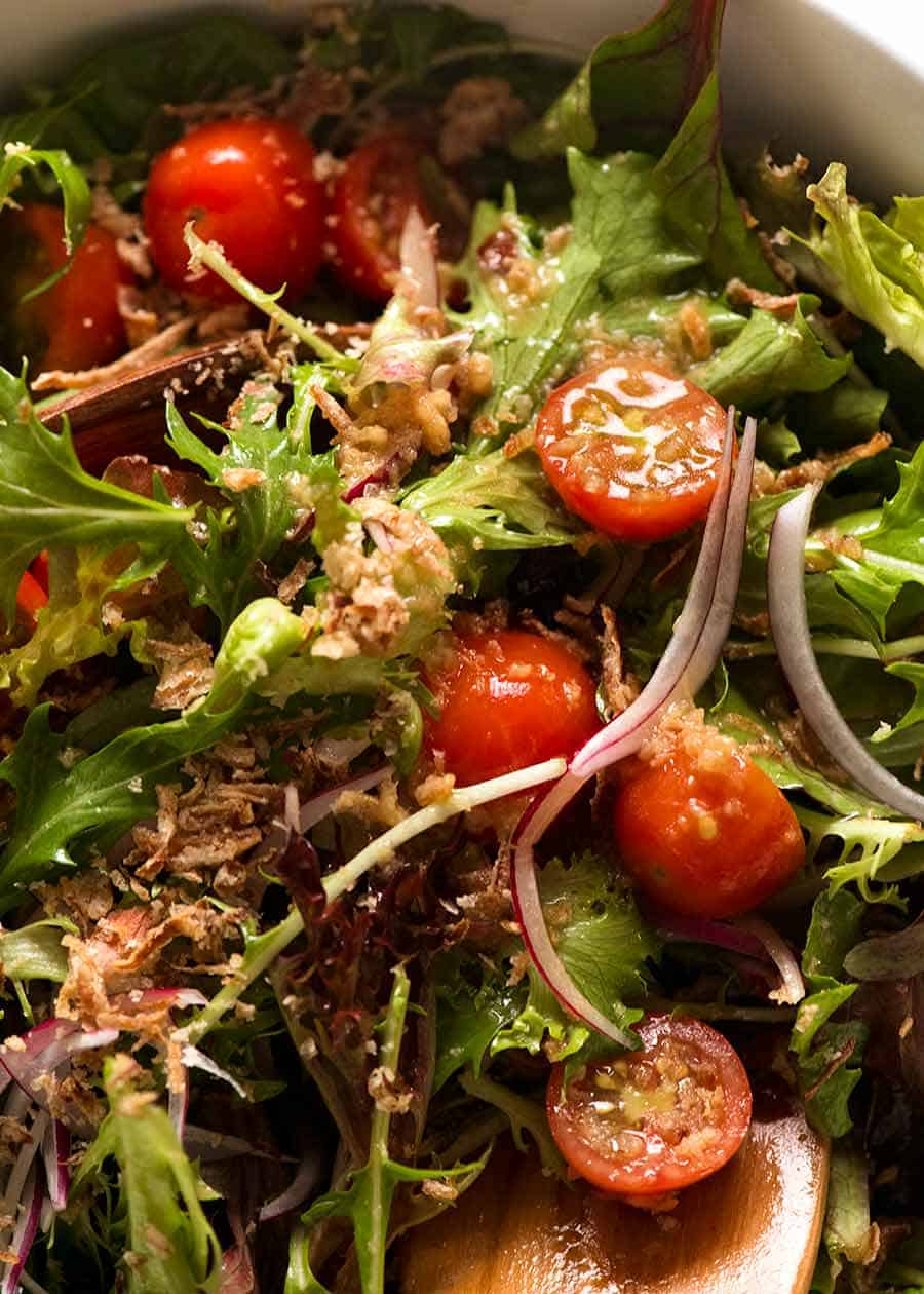 Close up of Asian Side Salad
