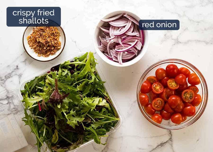 Ingredients in Asian Side Salad