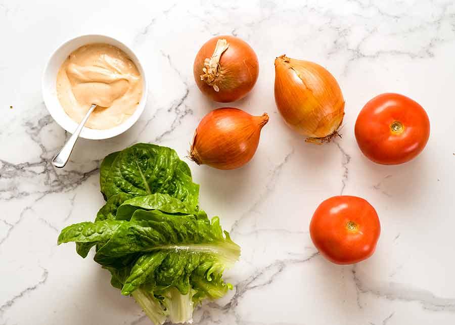 Ingredients for Swiss Mushroom Burgers
