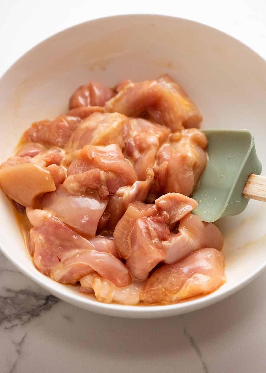 Chicken marinade for Honey Chicken