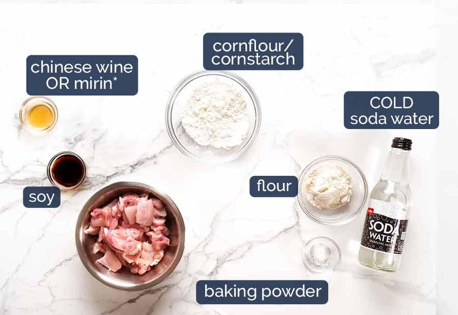 Honey Chicken ingredients