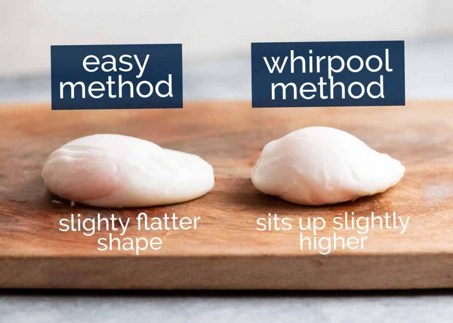 Comparison of easy method vs whirlpool method