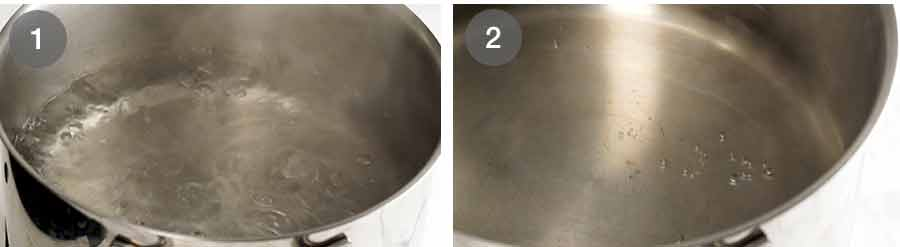 Right water temperature for poached eggs