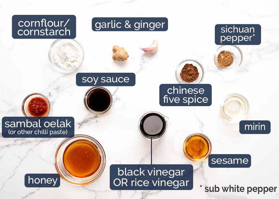 Ingredients in Asian Glazed Baked Barramundi