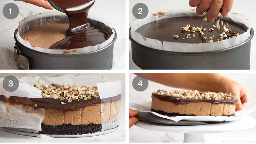 How to make Nutella Cheesecake (No Bake)