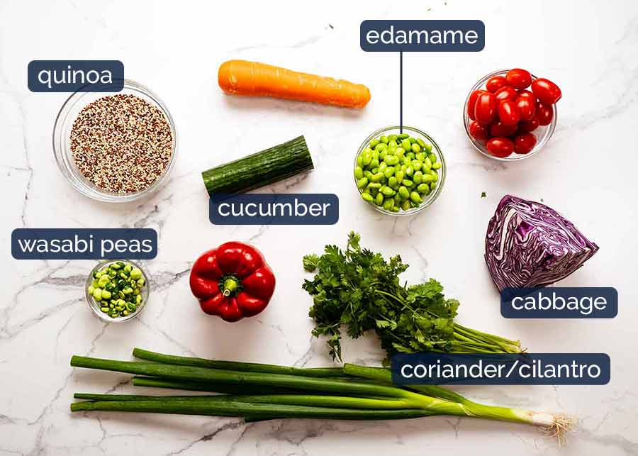 Ingredients in My Favourite Quinoa Salad