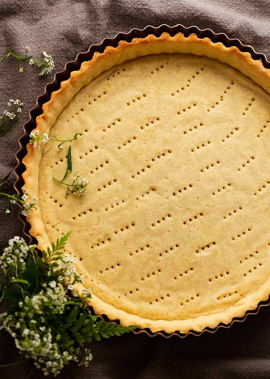 Sweet Tart Crust (Sweet Pastry) - French Pate Sucree - ready to be filled