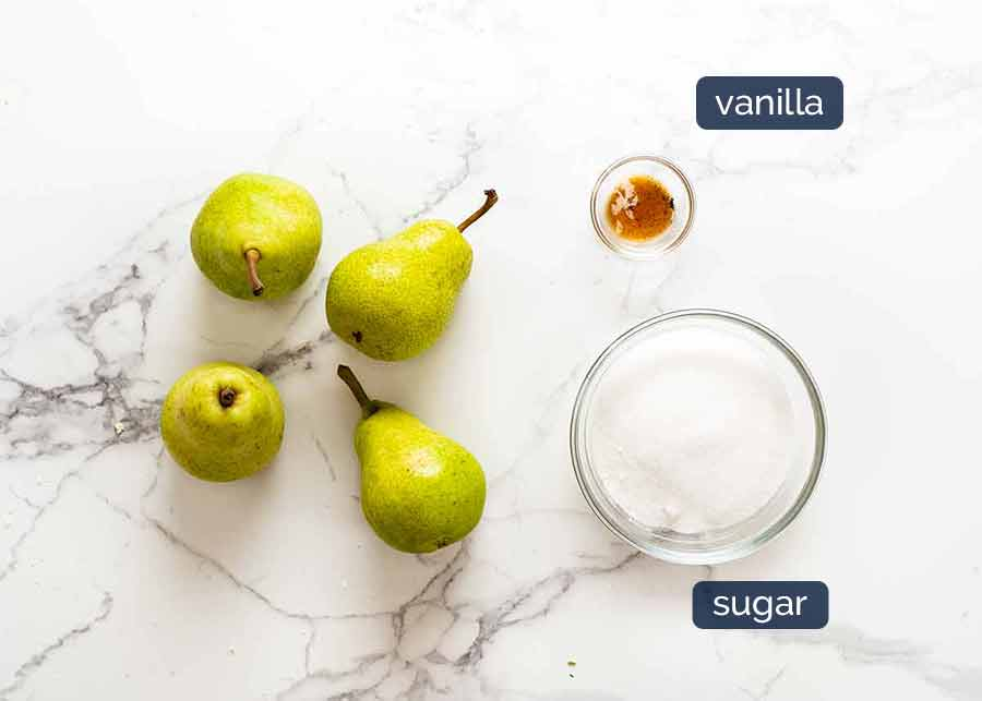 Ingredients for Poached Pears