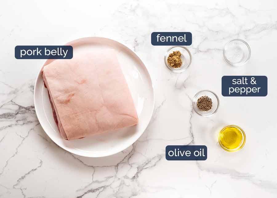 Ingredients in Slow Roasted Crispy Pork Belly