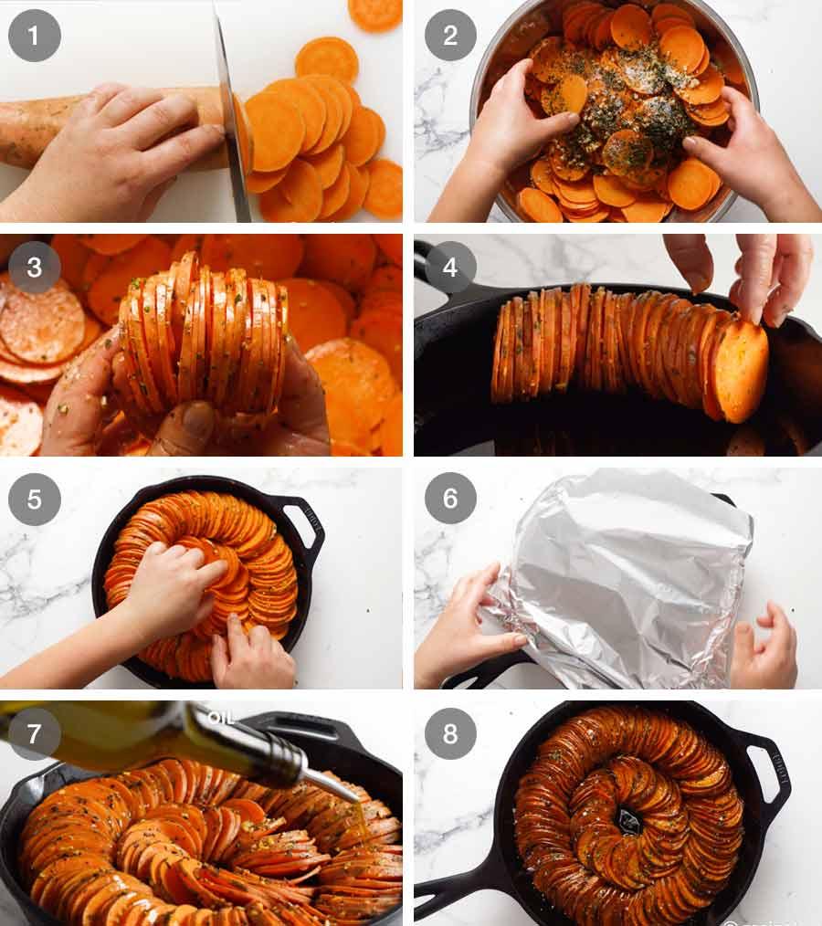 How to make Sweet Potato Bake( side dish)