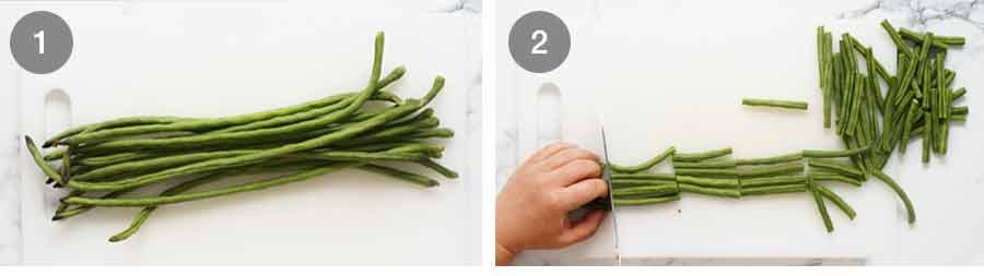 Snake beans for Green Papaya Salad (Thai)