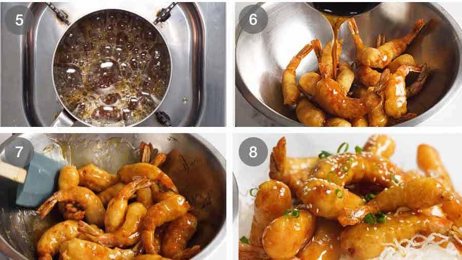 How to make Honey Prawns
