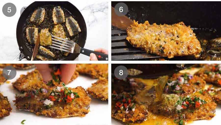 How to make Mediterranean Crusted Sardines