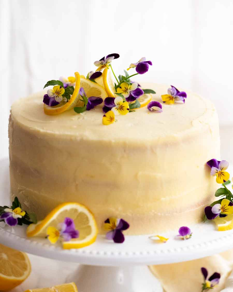 Whole Lemon Cake with Fluffy Lemon Frosting