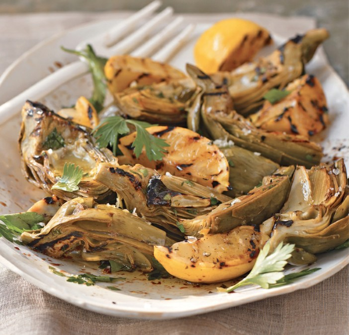 GRILLED AND SMOTHERED ARTICHOKES