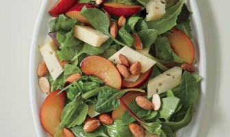 Greens with Fruit, Cheese, and Nuts