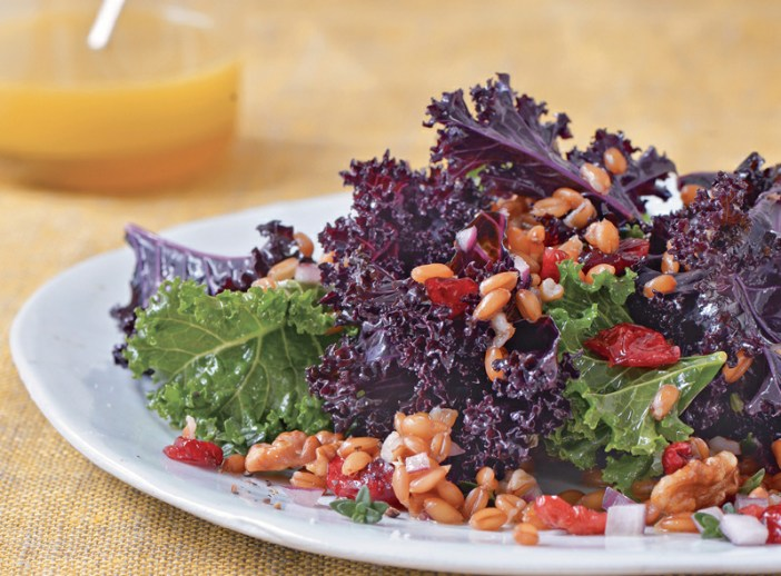 KALE AND SPELT BERRY SALAD