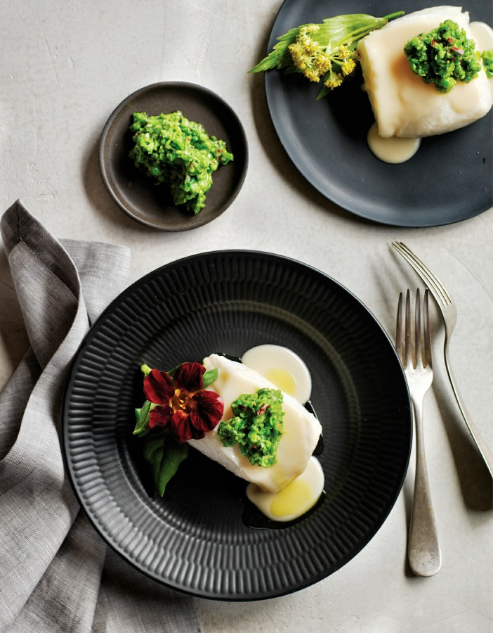 Butter-Poached Halibut