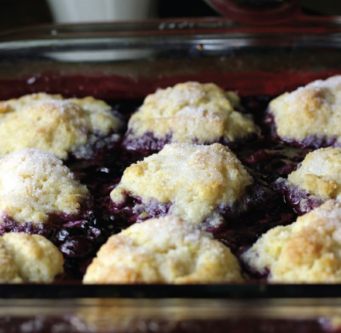 Lemon Blueberry Cobbler