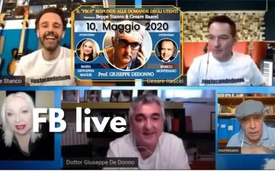 INTEGRALE Giuseppe DE DONNO | Maglie | Montesano | Rachel | Stanco | Watch Party Fb | 10 Maggio 2020