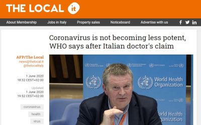 """VIDEO Interview with Prof. Alberto Zangrillo ENGLISH SUBTITLES """"The virus is clinically dead"""""""