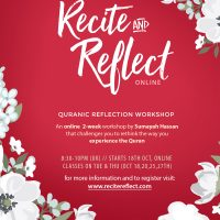 Recite & Reflect Online Workshop - October 2016