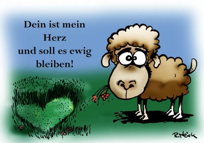 Karte für Verliebte - Schaf