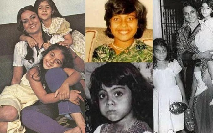 Kajol childhood photos, Bollywood Celebs, Childhood Stars, Unseen childhood pictures, Rare Pics Of Bollywood Celebrities