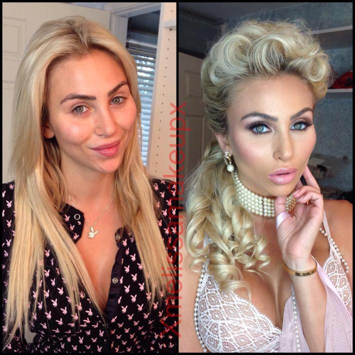 reckontalk — 27 sexy pornstars before and after makeup hot