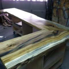 Reclaimed Wood Kitchen Island 2 Seat Table Project Inspiration | Lumber