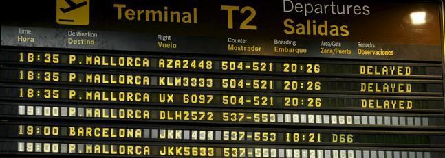 Derechos del pasajero de avión ante un retraso de vuelo