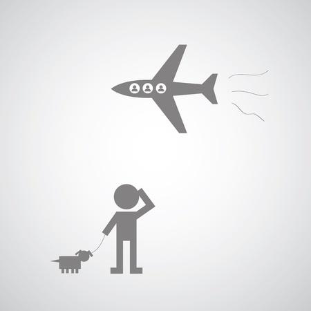 Las normas de aviación actual solo diferencian entre personas y maletas.