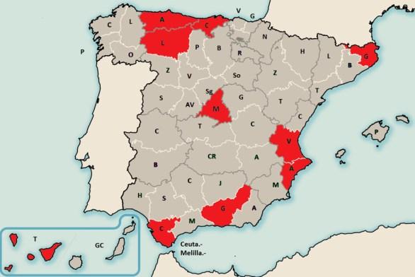 valores santander mapa de las provincias españoles con resoluciones favorables para el consumidor