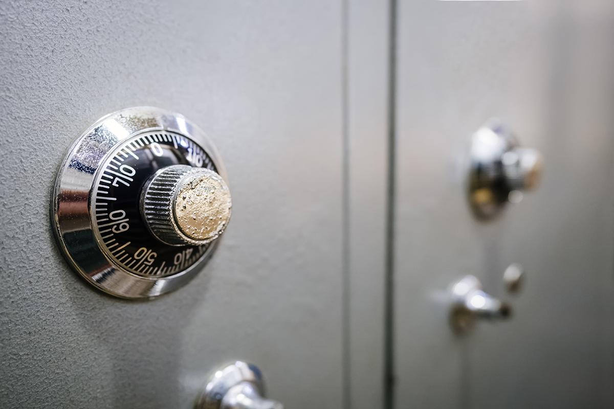 caja fuerte de un banco que ha comercializado hipotecas con cláusula suelo