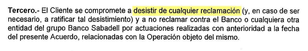 Los bancos evitan pagar las indemnizaciones de la cl usula for Acuerdo clausula suelo banco sabadell