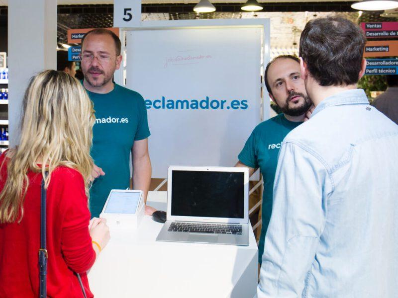 Stand de reclamador.es en la II Feria de Empleo de Startups que organiza Campus Madrid